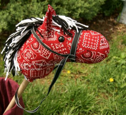 Red Bandana Stick Horse