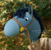 blue cartoon horse
